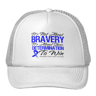 Not About Bravery - Colon Cancer Trucker Hats