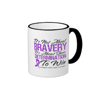 Not About Bravery - GIST Cancer Ringer Coffee Mug