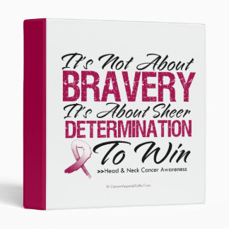 Not About Bravery - Head and Neck Cancer Vinyl Binders