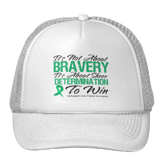 Not About Bravery - Liver Cancer Trucker Hats