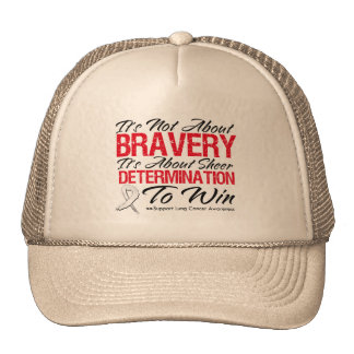 Not About Bravery - Lung Cancer Hat
