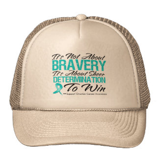 Not About Bravery - Ovarian Cancer Hat