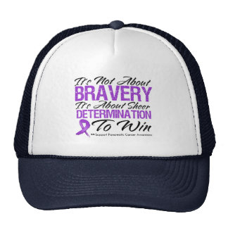 Not About Bravery - Pancreatic Cancer Trucker Hats