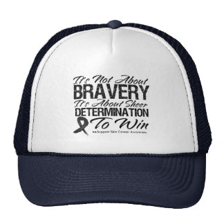 Not About Bravery - Skin Cancer Trucker Hats
