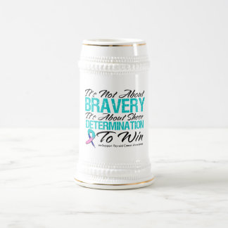 Not About Bravery - Thyroid Cancer 18 Oz Beer Stein