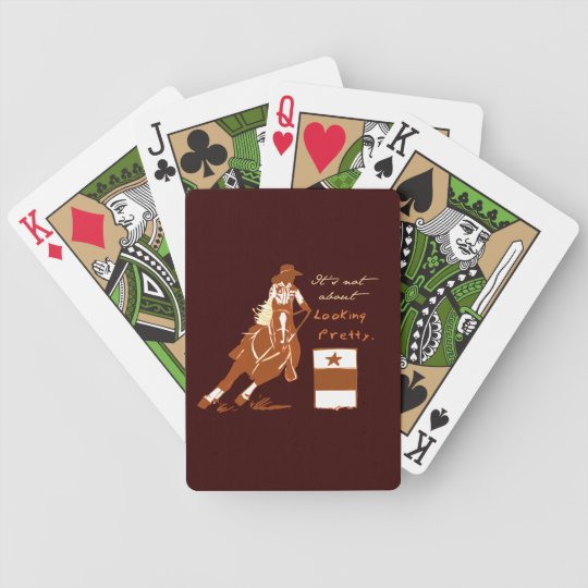Not About Looking Pretty Bicycle Playing Cards
