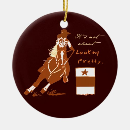 Not About Looking Pretty Double-Sided Ceramic Round Christmas Ornament