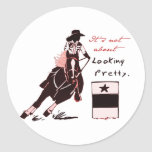 Not About Looking Pretty Round Sticker