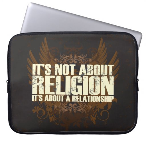 Not About Religion Laptop Sleeve
