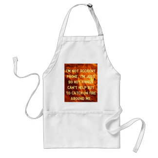 not accident prone adult apron