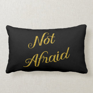 Not Afraid Gold Faux Glitter Metallic Sequins Pillow