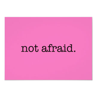 Not Afraid Inspirational Bravery Quote Template Card