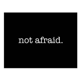 Not Afraid Inspirational Bravery Quote Template Post Card
