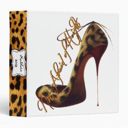 """Not Afraid of Heights"" Stilettos High Heel Custom 3 Ring Binder"