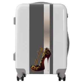 """""""Not Afraid of Heights"""" Tres Chic High Heel Design Luggage"""