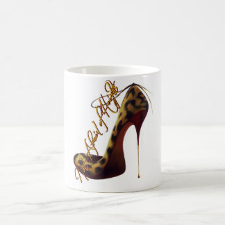 """Not Afraid of Heights"" Tres Chic High Heel Design Mugs"