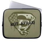 Not Afraid - Superman US Camo S-Shield Computer Sleeve