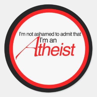 Not afraid to admit classic round sticker