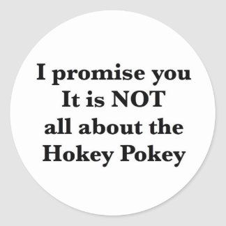 Not All About the Hokey Pokey Classic Round Sticker