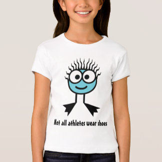 Not all athletes wear shoes - Blue Swim Character T-Shirt