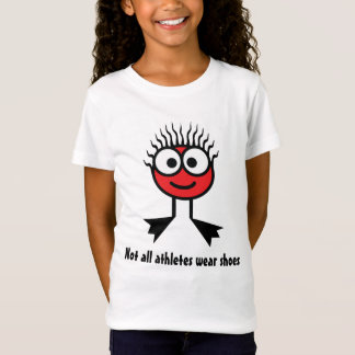 Not all athletes wear shoes - Red Swim Character T-Shirt