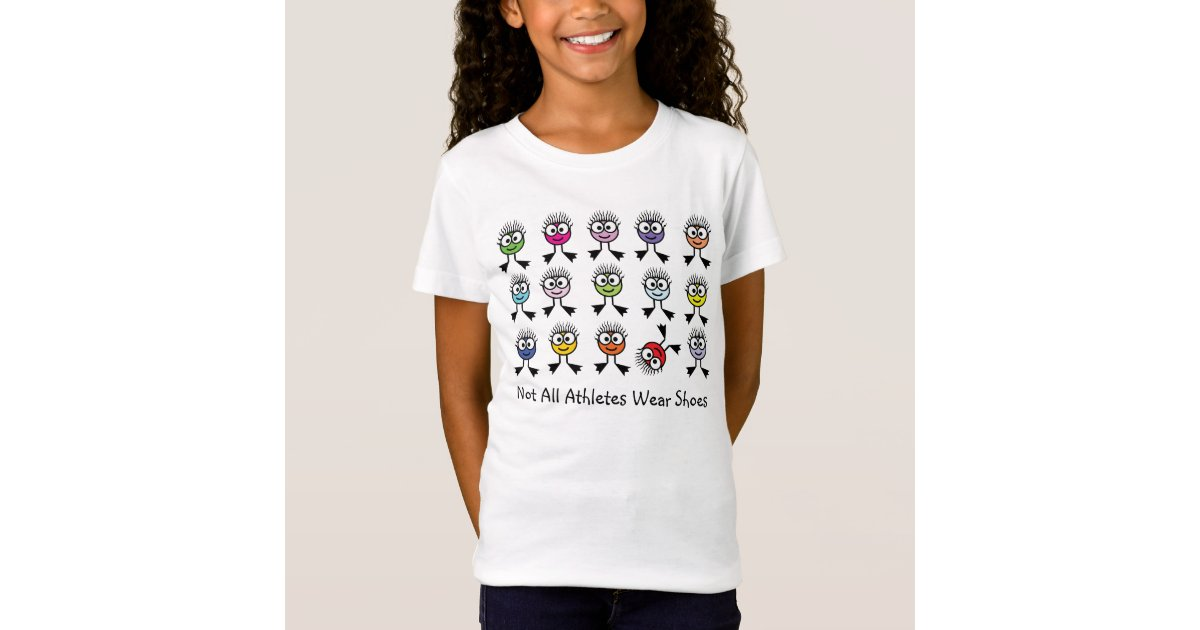 not all athletes wear shoes t shirt zazzle
