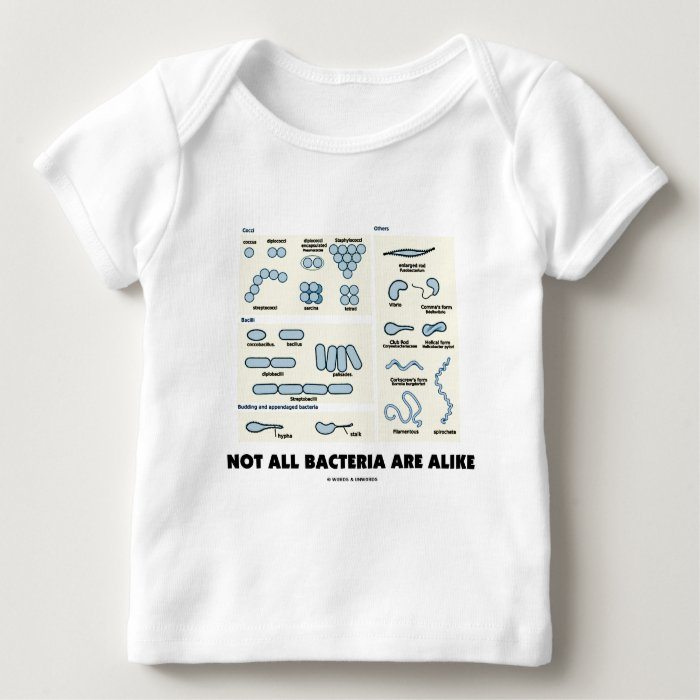 Not All Bacteria Are Alike (Bacterial Morphology) Baby T-Shirt