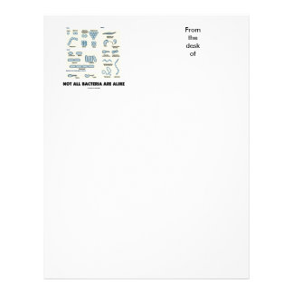 Not All Bacteria Are Alike (Bacterial Morphology) Customized Letterhead