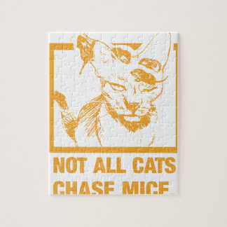 Not All Cats Chase Mice Jigsaw Puzzle