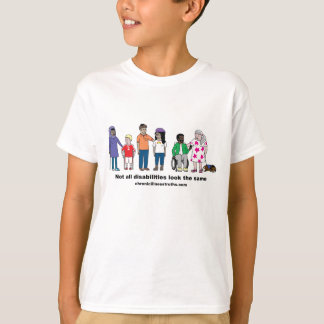Not All Disabilities Look the Same Kids' Shirt
