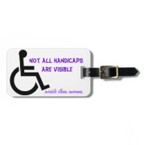 Not All Handicaps are visible Luggage Tag