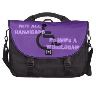 Not All Handicaps Require a Wheelchair Laptop Messenger Bag
