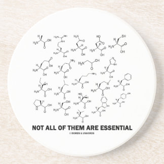 Not All Of Them Are Essential (20 Amino Acids) Coaster