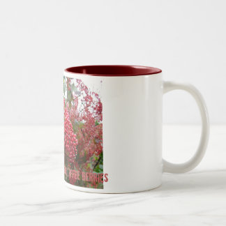 Not all red berries are coffee berries Two-Tone coffee mug
