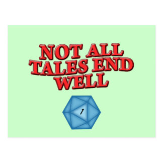 Not All Tales End Well Postcard