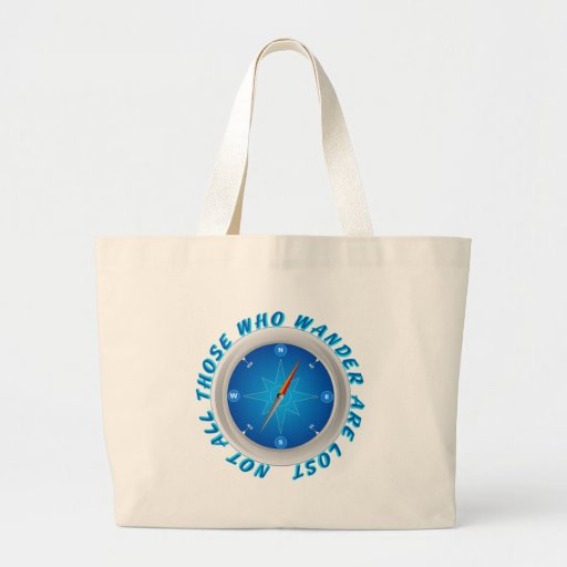 Not all those who wander canvas bag