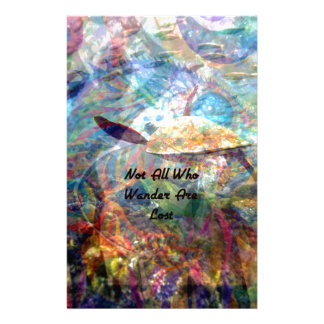 Not All Those Who Wander Inspirational Quote Stationery