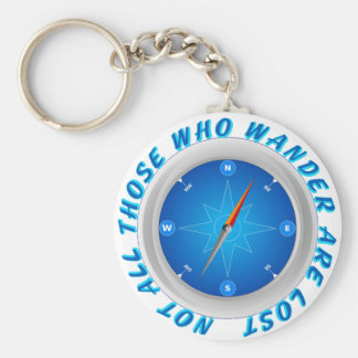Not all those who wander basic round button keychain