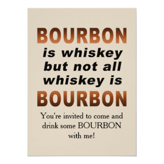 Not All Whiskey Is BOURBON! Card