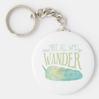 Not All Who Wander Are Lost Basic Round Button Keychain