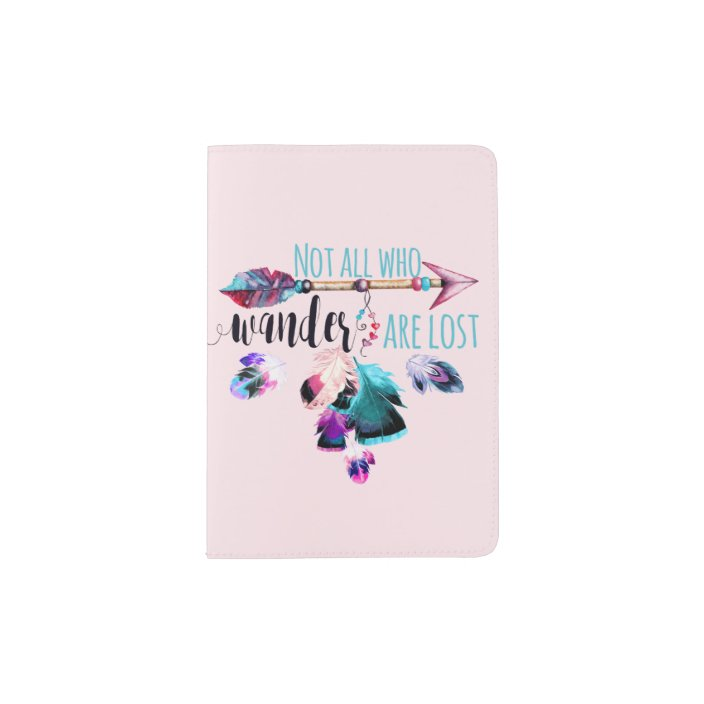 Personalized Bohemian Art Vinyl Passport Holder