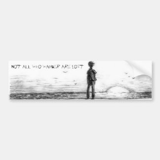 Not All Who Wander Are Lost Bumper Sticker