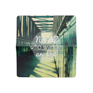 Not all who wander are lost. checkbook cover