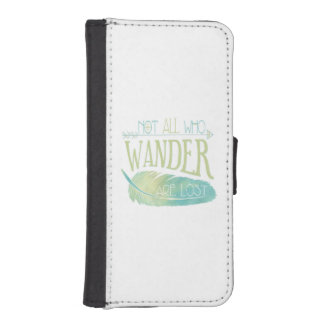 Not All Who Wander Are Lost iPhone SE/5/5s Wallet