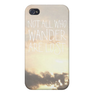 Not all who wander are lost landscape clouds photo covers for iPhone 4