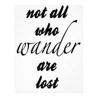 Not All Who Wander Are Lost Letterhead