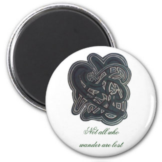 Not all who wander are lost 2 inch round magnet