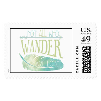 Not All Who Wander Are Lost Postage
