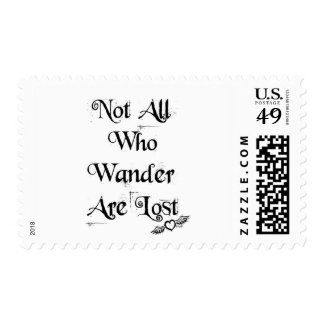 Not all who wander are lost postage stamps