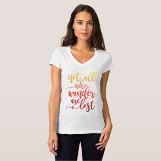 Not All Who Wander are Lost T Shirt Ombre